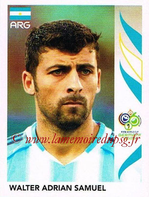2006 - Panini FIFA World Cup Germany Stickers - N° 175 - Walter Adrian SAMUEL (Argentine)