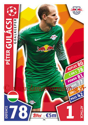 2017-18 - Topps UEFA Champions League Match Attax - N° 074 - Peter GULACSI (RB Leipzig)
