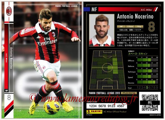 Panini Football League 2013 - PFL04 - N° 004 - Antonio NOCERINO (Milan AC)
