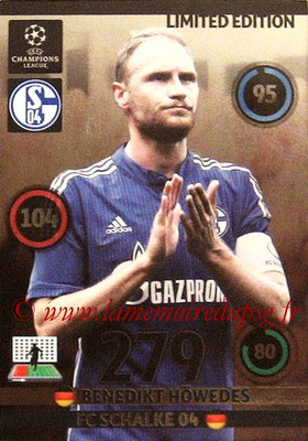 2014-15 - Adrenalyn XL champions League N° LE-BH - Benedict HOWEDES (FC Schalke 04) (Limited Edition)