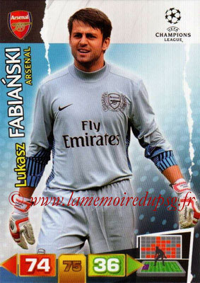 2011-12 - Panini Champions League Cards - N° 011 - Lukasz FABIANSKI (Arsenal FC)