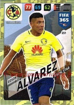 2017-18 - Panini FIFA 365 Cards - N° 251 - Edson ALVAREZ (Club America) (Rising Star)