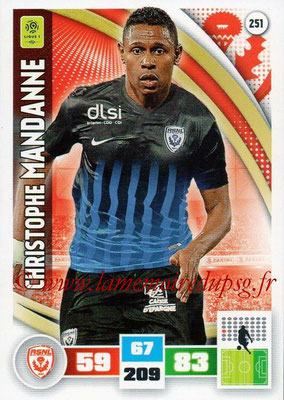 2016-17 - Panini Adrenalyn XL Ligue 1 - N° 251 - Christophe MANDANNE (Nancy)