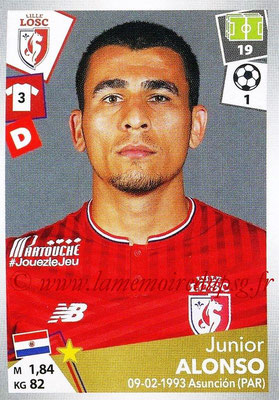2017-18 - Panini Ligue 1 Stickers - N° 159 - Junior ALONSO (Lille)