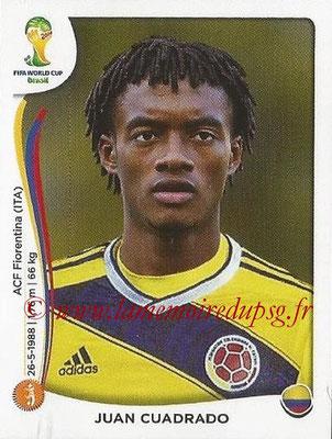 2014 - Panini FIFA World Cup Brazil Stickers - N° 196 - Juan CUADRADO (Colombie)