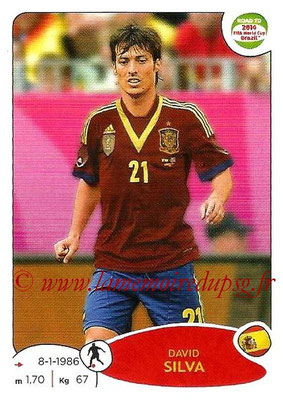 2014 - Panini Road to FIFA World Cup Brazil Stickers - N° 139 - David SILVA (Espagne)