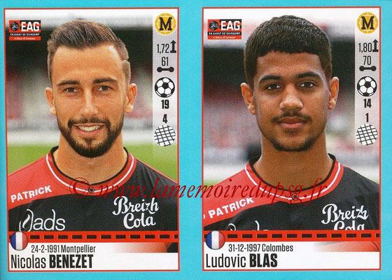 2016-17 - Panini Ligue 1 Stickers - N° 240 + 241 - Nicolas BENEZET + Ludovic BLAS (Guingamp)