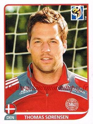 2010 - Panini FIFA World Cup South Africa Stickers - N° 355 - Thomas SORENSEN (Danemark)