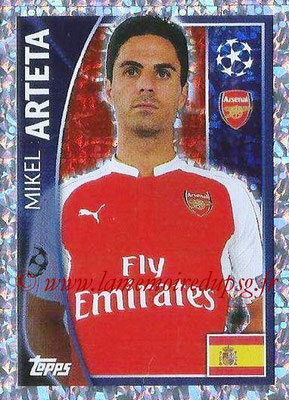 2015-16 - Topps UEFA Champions League Stickers - N° 401 - Mikel ARTETA (Arsenal FC)
