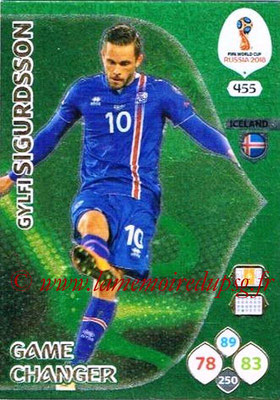 2018 - Panini FIFA World Cup Russia Adrenalyn XL - N° 455 - Gylfi SIGURDSSON (Islande) (Game Changer)
