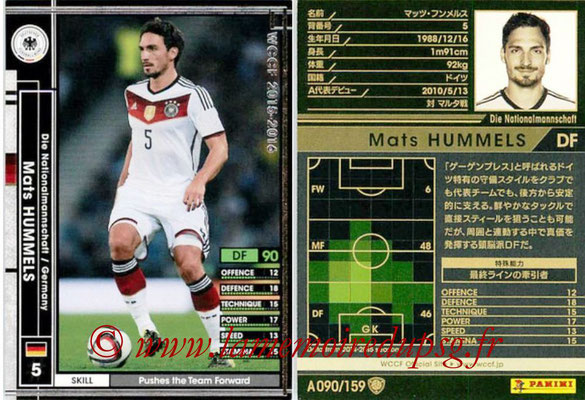 2015-16 - Panini WCCF - N° A090 - Mats HUMMELS (Allemagne)