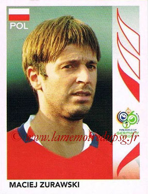 2006 - Panini FIFA World Cup Germany Stickers - N° 072 - Maciej ZURAWSKI (Pologne)