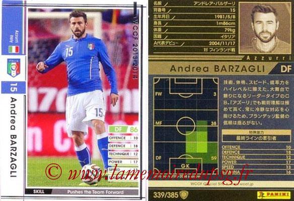 2013-14 - WCCF - N° 339 - Andrea BARZAGLI (Italie)