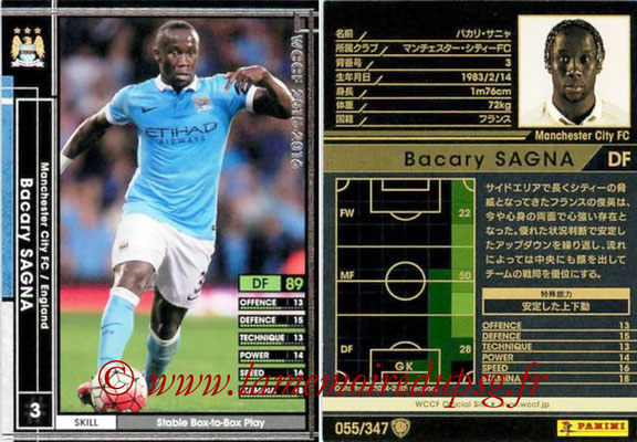 2015-16 - Panini WCCF - N° 055 - Bacary SAGNA (Manchester City FC)