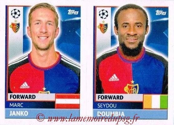 2016-17 - Topps UEFA Champions League Stickers - N° BAS 18-19 - Seydou DOUMBIA + Marc YANKO (FC Basel 1893)