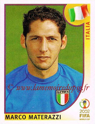 2002 - Panini FIFA World Cup Stickers - N° 463 - Marco MATERAZZI (Italie)