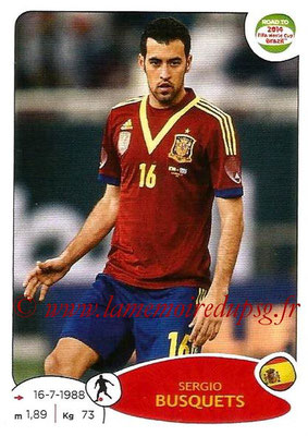2014 - Panini Road to FIFA World Cup Brazil Stickers - N° 134 - Sergio BUSQUETS (Espagne)