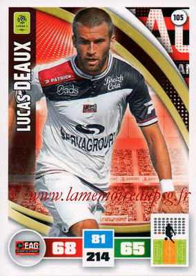 2016-17 - Panini Adrenalyn XL Ligue 1 - N° 105 - Lucas DEAUX (Guingamp)