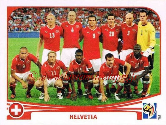 2010 - Panini FIFA World Cup South Africa Stickers - N° 581 - Équipe Suisse