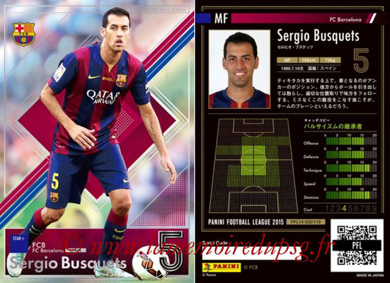 Panini Football League 2015 - PFL14 - N° 035 - Sergio BUSQUETS (FC Barcelone) (Star +)