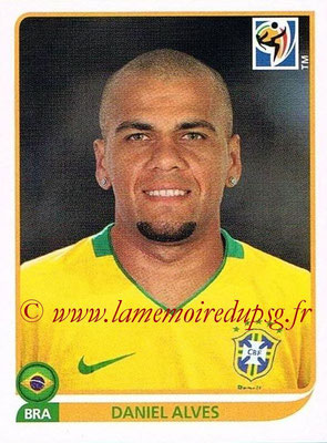 2010 - Panini FIFA World Cup South Africa Stickers - N° 493 - Daniel ALVES (Brésil)