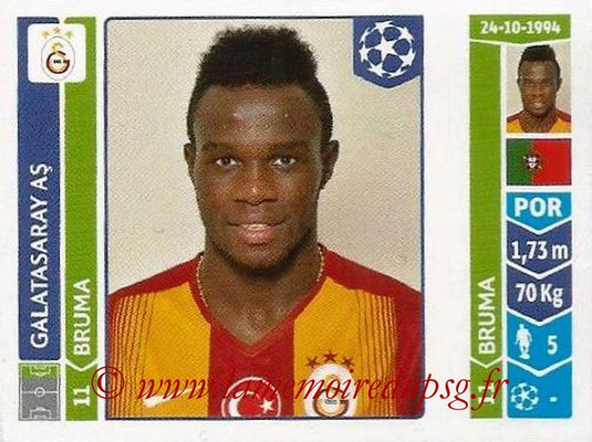 2014-15 - Panini Champions League N° 305 - BRUMA (Galatasaray AS)