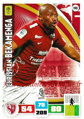 2016-17 - Panini Adrenalyn XL Ligue 1 - N° 190 - Christian BEKAMENGA (Metz)