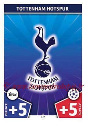 2017-18 - Topps UEFA Champions League Match Attax - N° 127 - Logo Tottenham Hotspur (Club Badge)