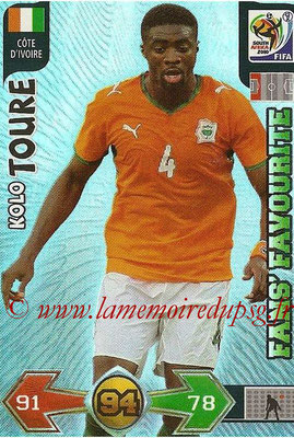 2010 - Panini FIFA World Cup South Africa Adrenalyn XL - N° 073 - Kolo TOURE (Côte d'Ivoire) (Fans' Favourite)