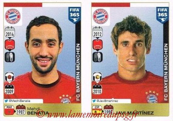 2015-16 - Panini FIFA 365 Stickers - N° 470-471 - Mehdi BENATIA + Javi MARTINEZ (FC Bayern Munich)