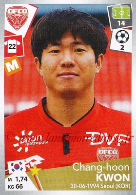 2017-18 - Panini Ligue 1 Stickers - N° 117 - Chang-Hoon KWON (Dijon)