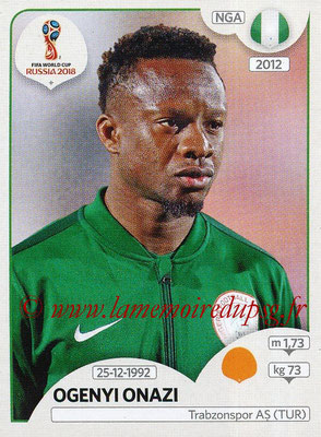 2018 - Panini FIFA World Cup Russia Stickers - N° 342 - Ogenyi ONAZI (Nigeria)