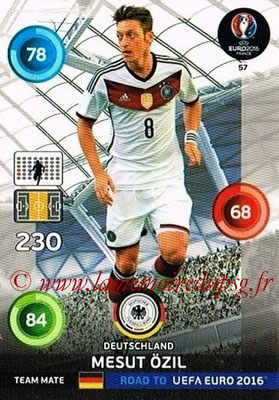 Panini Road to Euro 2016 Cards - N° 057 - Mesut OZIL (Allemagne)