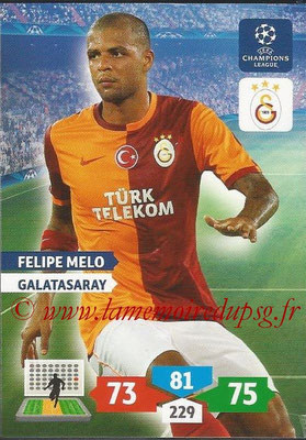 2013-14 - Adrenalyn XL champions League N° 142 - Felipe MELO (Galatasaray AS)
