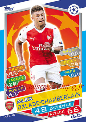 2016-17 - Topps UEFA Champions League Match Attax - N° ARS10 - Alex OXLADE-CHAMBERLAIN (Arsenal FC)