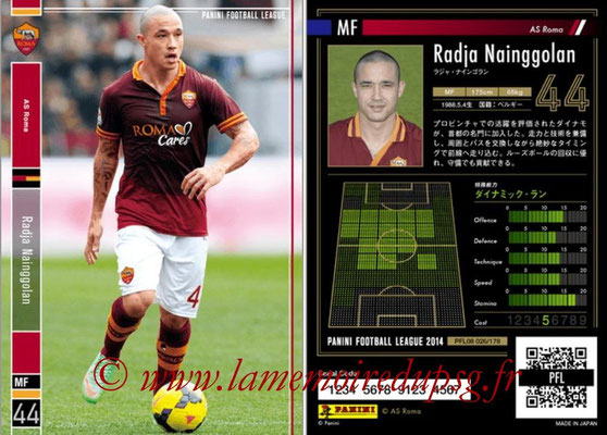 Panini Football League 2014 - PFL08 - N° 026 - Radja NAINGGOLAN (AS Rome)