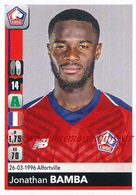 2018-19 - Panini Ligue 1 Stickers - N° 167 - Jonathan BAMBA (Lille)