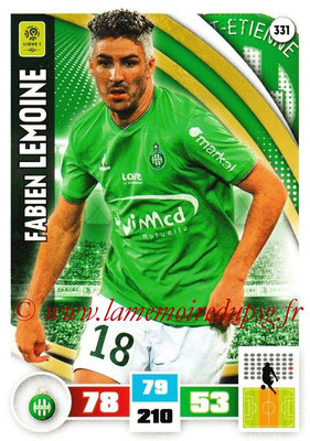 2016-17 - Panini Adrenalyn XL Ligue 1 - N° 331 - Fabien LEMOINE (Saint-Etienne)