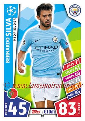 2017-18 - Topps UEFA Champions League Match Attax - N° 175 - Bernardo SILVA (Manchester City FC)