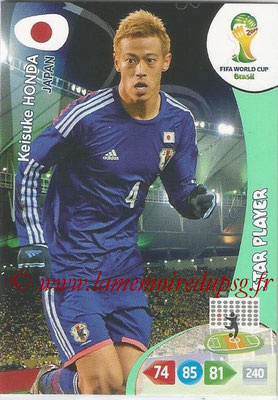 2014 - Panini FIFA World Cup Brazil Adrenalyn XL - N° 229 - Keisuke HONDA (Japon)