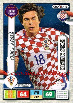 2018 - Panini Road to FIFA World Cup Russia Adrenalyn XL - N° CRO12 - Ante CORIC (Croatie) (Rising Star)