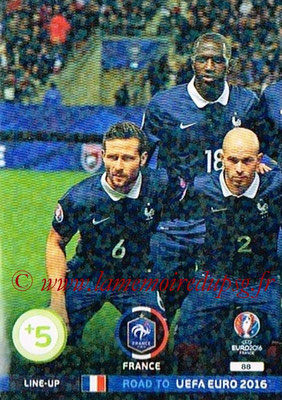 Panini Road to Euro 2016 Cards - N° 088 - Equipe France 1