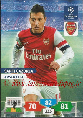 2013-14 - Adrenalyn XL champions League N° 053 - Santi CAZORLA (Arsenal FC)
