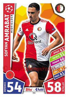 2017-18 - Topps UEFA Champions League Match Attax - N° 351 - Sofyam AMRABAT (Feyenord)