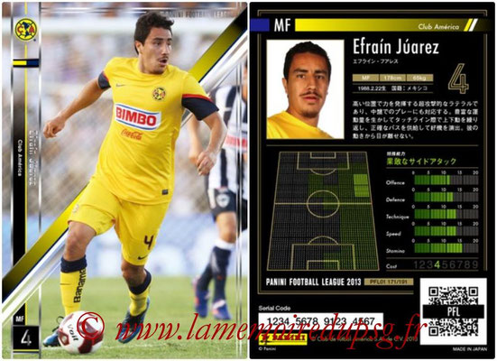 Panini Football League 2013 - PFL01 - N° 171 - Efrain Juarez ( Club America )