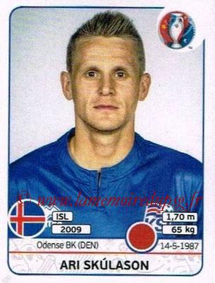 Panini Euro 2016 Stickers - N° 614 - Ari SKULASON (Islande)