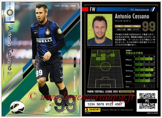 Panini Football League 2013 - PFL04 - N° 024 - Antonio CASSANO (Inter Milan)