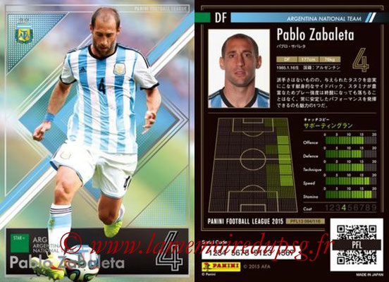 Panini Football League 2015 - PFL13 - N° 084 - Pablo ZABALETA (Argentine) (Star +)
