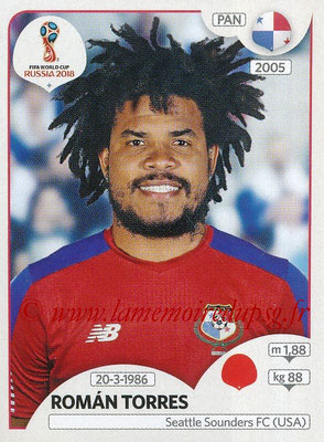 2018 - Panini FIFA World Cup Russia Stickers - N° 538 - Roman TORRES (Panama)