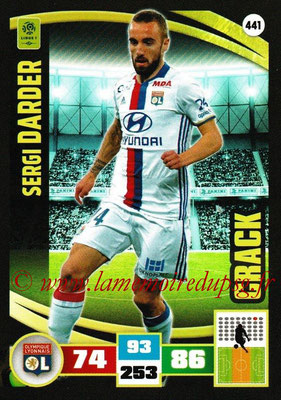 2016-17 - Panini Adrenalyn XL Ligue 1 - N° 441 - Sergi DARDER (Lyon) (Crack)